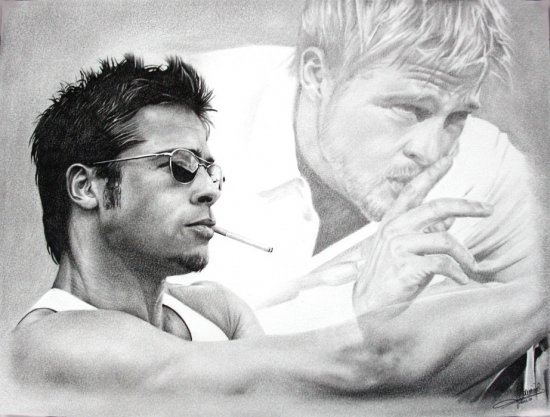 Brad Pitt by Domine